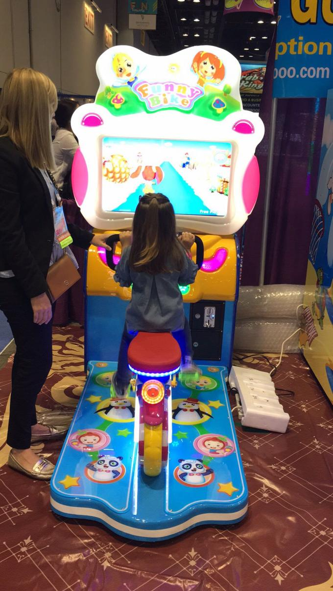 Bicycle Riding Coin Operated Arcade Machines Popular Design With Sport Game