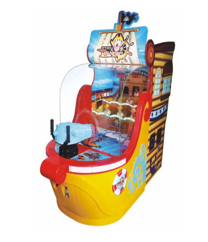 Ball Shooting Redemption Arcade Machines FRP Material For Funny