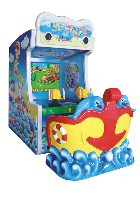 Ticket Out Video Arcade Machines Water Shooting Game With 47 Inch LCD Screen