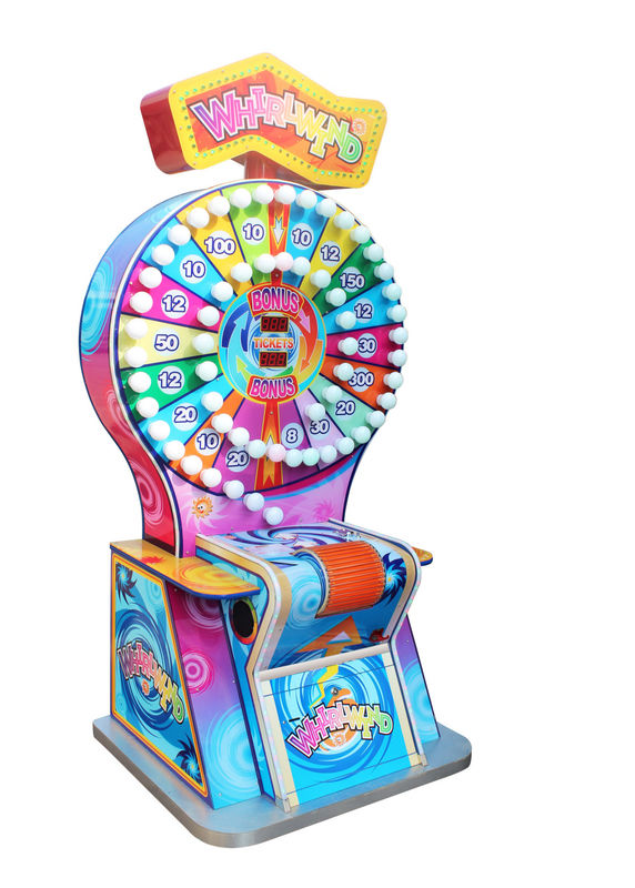Indoor Arcade Ticket Machine Whirlwind Series Colorful 1 Player Capacity