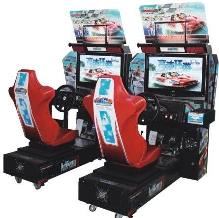 Interesting Racing Game Simulator Machines With Dynamic Steering Wheel