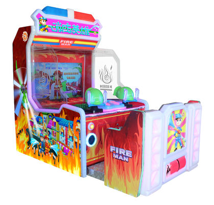 Fire Man Water Shooting Game Coin Operated Arcade Machines Wooden Material